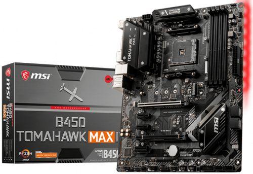 Материнская плата ATX MSI B450 TOMAHAWK MAX II (AM4, AMD B450, 4*DDR4(4133), 6*SATA 6G RAID, M.2, 5*PCIE, 7.1CH, Glan, 5*USB 3.2, USB Type-C, DVI-D, H материнская плата gigabyte b450 gaming x b450 socket am4 4xddr4 6xsata3 raid 1xm 2 2xpci e16x 4xusb3 1 dvi d hdmi glan atx