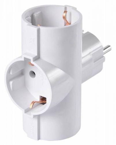 Разветвитель сетевой Buro BU-PS3TG-W 3 розетки, белый (пакет ПЭ)