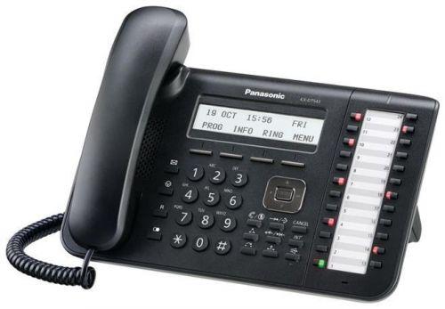 Системный телефон Panasonic KX-DT543RU-B для KX-TDA/TDE/NCP (черный) panasonic kx dt346ru white цифровой системный телефон