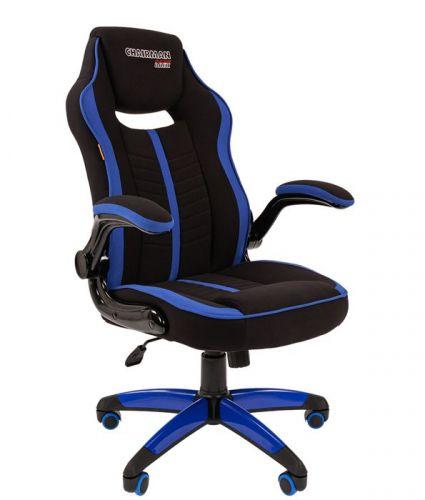 Кресло офисное Chairman Game 19 Chairman 7060631 ткань, черно-синее кресло liyasi руби синее 76x76x78 см