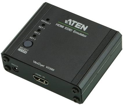Адаптер Aten VC080-AT эмулятор EDID, HDMI, Female, без БП, (макс.разр.1920*1200 60Hz)
