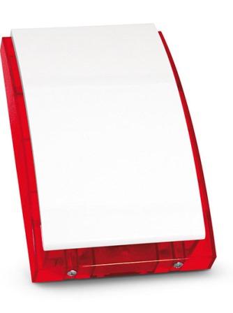 Оповещатель SATEL SP-4002 R светозвуковой (сирена) внешний, красный, акустическая сигнализация