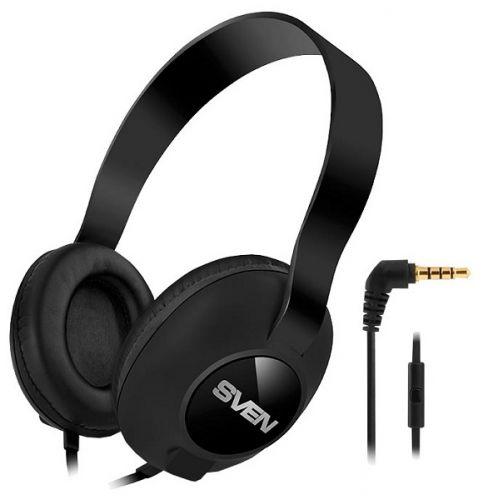 Наушники Sven AP-310M SV-015312 черные, мультимедийные с микрофоном