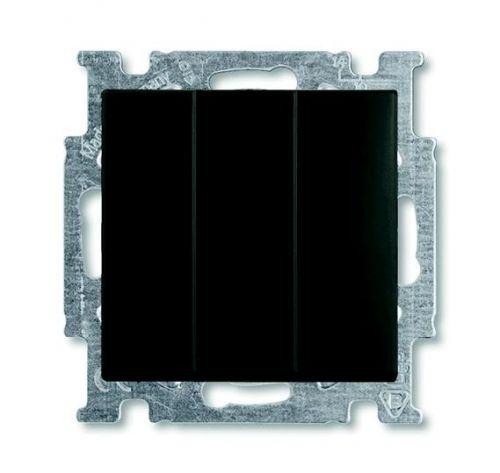 Выключатель ABB 1012-0-2173 BASIC 55 трехклавишный (механизм), 10А, 250В, IP20, в рамку шато (чёрный)