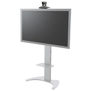 Стойка стационарная FIX M65 для телевизоров и панелей 52-65 до 70кг, VESA max 600х400, высота 150-170см, серебро мобильная стойка для панелей и телевизоров fix m50 black