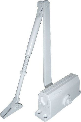 Доводчик Oubao E-602 (белый) для дверей весом до 50 кг, двухскоростной, установочный размер 132х20 мм