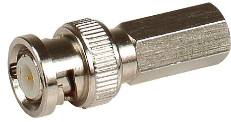 Штекер LAZSO APBT11-RG59(100) BNC, навинчивающийся на кабель RG59, упаковка 100шт. Диапазон частот 0-1ГГц. Материал корпуса -цинк. Покрытие - никель