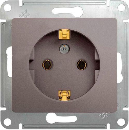 Розетка Schneider Electric GSL001243 GLOSSA с заземлением (платина)