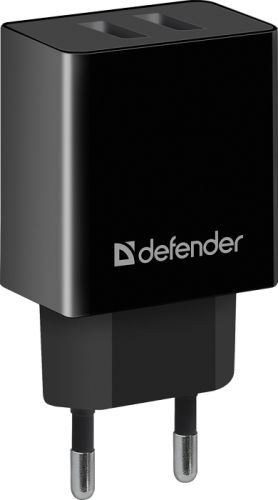 Фото - Зарядное устройство сетевое Defender UPA-22 83579 5V/2.1A 2XUSB сетевое зарядное устройство deppa 2xusb 3 4a черный 11385