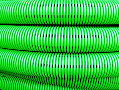 Труба DKC 140911 гибкая двустенная дренажная д.110мм, класс SN6, перфорация 360 град.,50м, цвет зеленый