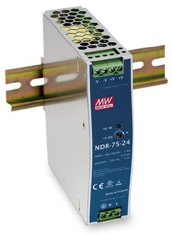 Преобразователь AC-DC сетевой Mean Well NDR-75-12