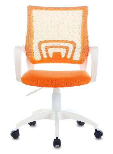 Фото - Кресло Бюрократ CH-W695NLT цвет оранжевый TW-38-3 TW-96-1 сетка/ткань крестовина пластик белый кресло бюрократ ch w695nlt на колесиках сетка ткань темно серый [ch w695nlt dg tw 12]