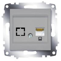 Розетка ABB 619-011000-247 Cosmo компьютерная RJ45 cat 6 + гнездо, 50В, IP20 (алюминий)