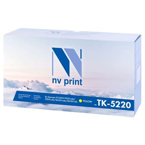 Картридж NVP NV-TK5220Y для Kyocera ECOSYS P5021cdw/P5021cdn/M5521cdw/M5521cdn, 1200k, желтый