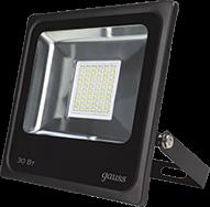 Прожектор светодиодный Gauss 613100330 LED 30W 2100lm IP65 6500К черный светильник volpe уличный светодиодный консольный ul 00006084 ulv q610 30w 6500к ip65 black