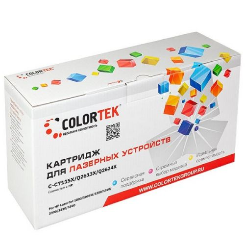 Картридж Colortek CT-C7115X/Q2613X/Q2624X для HP LaserJet 1200, HP LaserJet 1220, HP LaserJet 3300, HP LaserJet 3310, HP LaserJet 3320, HP LaserJet 33