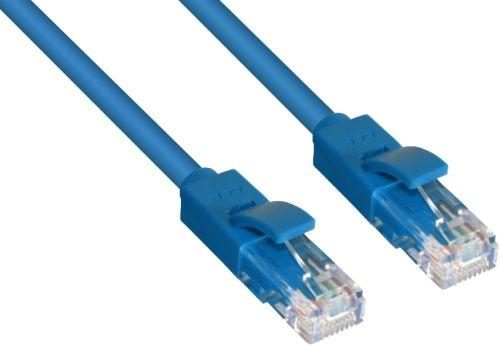 Фото - Кабель патч-корд UTP 5e кат. 1м. GCR GCR-LNC01-1.0m , RJ45, литой (Синий) кабель патч корд utp 5e кат 20м gcr gcr lnc03 20 0m rj45 литой серый