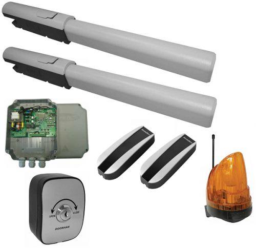 Комплект DoorHan SW-5000KIT в составе привода SWING-5000 2 шт, блок управления SW-Mini, ключ-кнопка KEYSWITCH-N, фотоэлементы PHOTOCELL-N, сигнальная