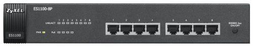Коммутатор неуправляемый ZYXEL ES1100-8P-EU0102F 8-портовый коммутатор Fast Ethernet c 4 портами PoE