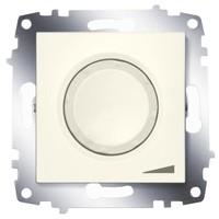 Диммер ABB 619-010300-192 Cosmo поворотный 800 Вт, 250В, IP20 с подсветкой (кремовый)