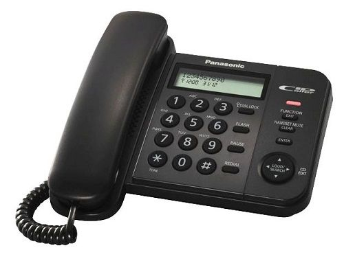 Телефон проводной Panasonic KX-TS2358RUB проводной телефон panasonic kx ts2363ruw