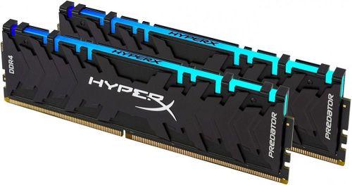 Фото - Модуль памяти DDR4 64GB (2*32GB) HyperX HX432C16PB3AK2/64 Predator RGB 3200MHz CL16 2R 16Gbit 1.35V модуль памяти dimm 32gb ddr4 pc25600 3200mhz kingston xmp hyperx predator series hx432c16pb3 32