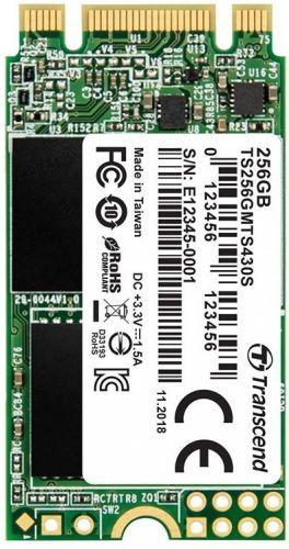Фото - Накопитель SSD M.2 2242 Transcend TS256GMTS430S MTS430 256GB SATA 6Gb/s TLC 3D NAND 530/400MB/s 45K/70K IOPS MTBF 1M накопитель ssd transcend 256gb ts256gmts400s