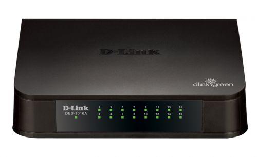 Коммутатор неуправляемый D-link DES-1016A/E1B 16xUTP 10/100, Small case, пластик
