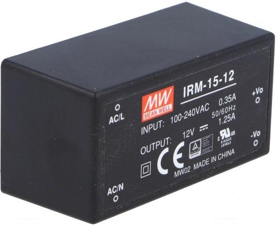 Преобразователь AC-DC сетевой Mean Well IRM-15-12
