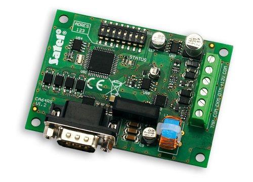 Конвертер интерфейсов SATEL INT-RS RS-232 для интеграции с системами других производителей по открытому протоколу, подключается к шине клавиатур ПКП I