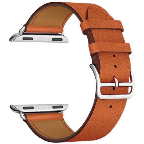 Ремешок на руку Lyambda MINTAKA LWA-02-40-OR кожаный для Apple Watch 38/40 mm orange аксессуар ремешок gurdini milanese loop для apple watch 42mm rose gold 904820