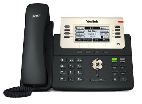 Проводной IP-телефон Yealink SIP-T27G 6 линий, Opus, BLF, PoE, USB, GigE конференц телефон ip yealink cp930w base