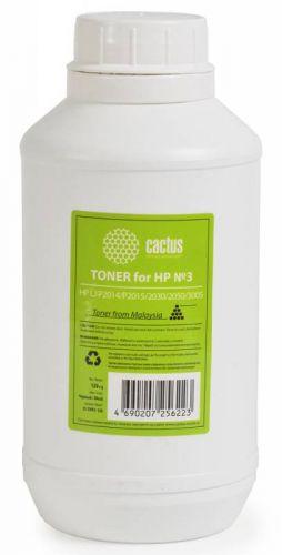 Тонер для заправки Cactus CS-THP3-120 чёрный (флакон 120гр) HP LJ P2014/P2015/2030/2050/3005