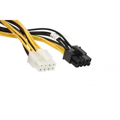 Кабель интерфейсный Supermicro CBL-PWEX-0665 PCIe 8 pin female(black) to CPU female(white), K80 GPU power for 300W card, 30cm, 18AWG