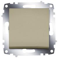 Выключатель ABB 619-011400-200 Cosmo одноклавишный, 10А, 250В, IP20 (титаниум)