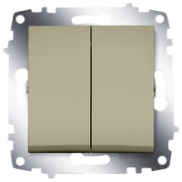 Выключатель ABB 619-011400-202 Cosmo двухклавишный, 10А, 250В, IP20 (титаниум)