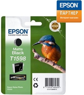 Картридж Epson C13T15984010 для принтера Stylus Photo R2000 матовый чёрный