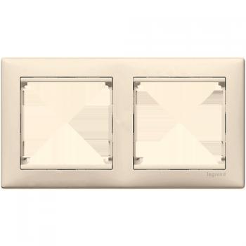 Рамка Legrand 774352 Valena 2 поста горизонтальная, IP20 (слоновая кость)