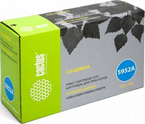 Картридж Cactus CS-Q5952AV для HP CLJ 4700 желтый (10000стр.) картридж cactus 841161 желтый [cs c5000y]