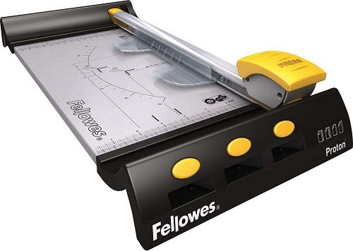 Резак Fellowes Proton A4 дисковый, прямая резка, 10 листов, автоматическая система прижима