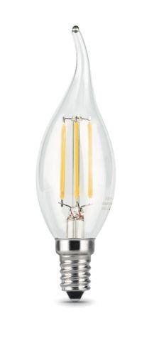 Лампа светодиодная Gauss 104801205 LED Filament Свеча на ветру E14 5W 450lm 4100K лампа gauss led filament свеча на ветру dimmable e14 5w 450lm 4100k 1 10 50