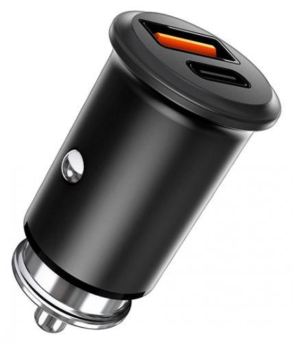 Фото - Зарядное устройство автомобильное TFN CCRPD30W01 RAPID 5A QC/PD black б/кабеля автомобильное зарядное устройство tfn 1а microusb black