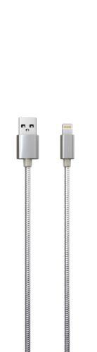 Кабель интерфейсный Red Line S7 УТ000010468 USB-Lightning для Apple, металлическая обмотка, серебристый кабель red line usb – apple lightning white