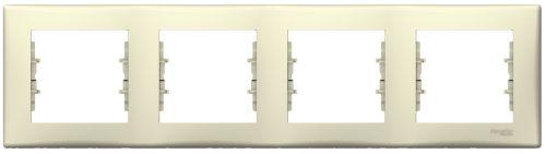 Рамка Schneider Electric SDN5800747 Sedna 4-я горизонтальная, IP20 (бежевая)