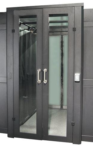Фото - Дверь Lanmaster LAN-DC-HDRML-42Ux12 распашная 1200 мм для шкафов 42U, стекло, key-card замок комплект боковых панелей lanmaster lan dc cb 42ux10 sp с замками для шкафа 42u глубиной 1070 мм