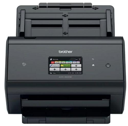 Документ-сканер Brother ADS-3600W A4, 50 стр/мин, 512Мб, дуплекс, DADF50, сенсорный экран, WiFi, USB3.0, NFC, FineReader
