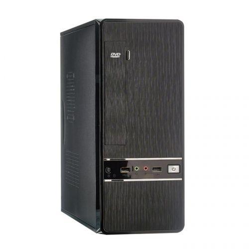 Корпус mATX Exegate MS-305 EX280450RUS slim minitower, M400, 80mm 2*USB, Audio, black