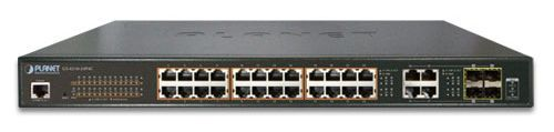 Коммутатор PoE Planet GS-4210-24P4C управляемый, IPv6/IPv4, 24xGE 802.3at POE+ 4xGigabit Combo TP/SFP (220W) ipv6