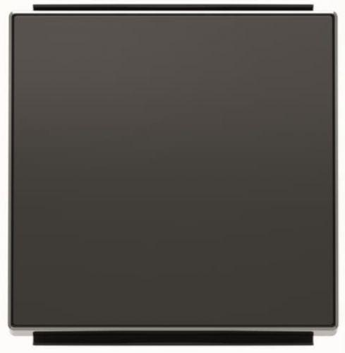 Панель лицевая ABB 2CLA850100A1501 для 1-клавишных выключателей/переключателей/кнопок, чёрный бархат накладка abb 2cla851810a1501 для 1 го суппорта разъёма типа 2017 или 2018 со шторками и полем для надписи чёрный бархат