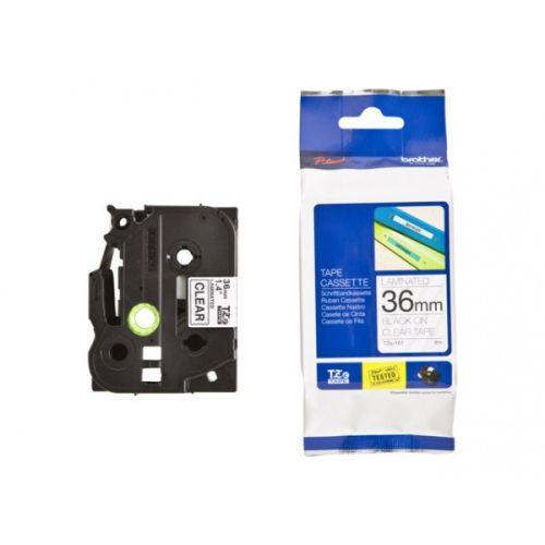 Наклейка Brother TZE161 Наклейка ламинированная TZ-E161 (36 мм черн/прозр) наклейка